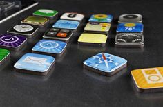 iPhone App Icon Fridge Magnets Kit  Gadgetsin
