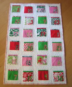 quilt advent calendar - this is what I really want (neater and more regular, of course), but maybe next year.  Only 2.5 weeks left