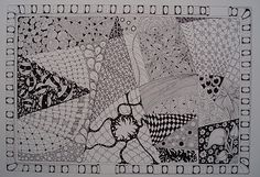 Jane Monk Studio - Longarm Machine Quilting & Teaching the Art of Zentangle®: New Tangle with a different string