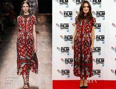 Keira Knightley In Valentino - 'The Imitation Game' London Film Festival Photocall