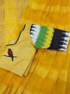 Cotton Saree Blouse Designs, Blouse Back Neck Designs, Saree Blouse Patterns, Designer Blouse Patterns, Latest Saree Trends, Indian Designers, Stylish Blouse Design, Colour Combo, Kurtis