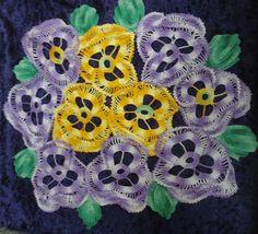 ╭✿✿╯ Amor-Perfeito de Crochê  Padrão -  /╭✿✿╯Pansies of Crochet Hooks  Pattern  -
