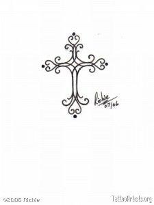 Small Cross Tattoos For Women | Small Cross Tribal Tattoo | Tattoo Tabatha – Fr'o'blog
