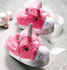 Make bedtime magical with these light-up unicorn slippers.