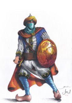 Guerreiro Islâmico, Lápis de cor A3