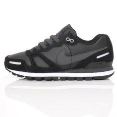 best website bf0c6 385b9 Nike Air Waffle Trainer Leather Black  Wellgosh wellgosh