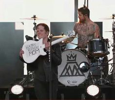 his face. And then Andy's just like wtf I thought this was supposed to be a hardcore band