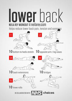 Back Workout / Helps reduce lower back pain, tension, stiffness & soreness.Lower Back Workout / Helps reduce lower back pain, tension, stiffness & soreness. Fitness Workouts, Yoga Fitness, At Home Workouts, Fitness Motivation, Health Fitness, Hero Workouts, Killer Ab Workouts, Fitness Foods, Easy Fitness