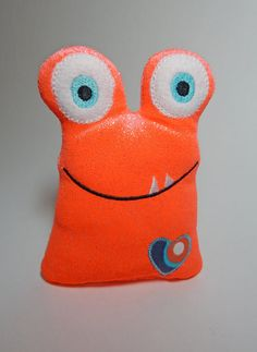 Orange Love Monster Softie/Plush by BabblesBubblesBows on Etsy