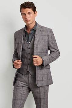 We have an impressive selection of men's jackets and blazers for you to enjoy. Select from our range of blazers, single breasted jackets and dinner jackets. Smart Jackets, Cool Jackets, Moss Bros, Teal Shirt, Checked Suit, Tapered Trousers, 3 Piece Suits, Prince Of Wales, Jacket Buttons