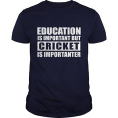 Cricket is importanter T Shirts, Hoodies. Check price ==► https://www.sunfrog.com/Hobby/Cricket-is-importanter-Navy-Blue-Guys.html?41382 $19