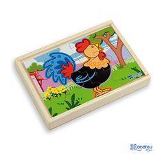 Купете Andreu toys - дървен пъзел Ферма