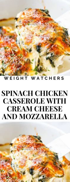 Tastiest and Healthiest Dinner Ever with Chicken Casserole Ww Recipes, Turkey Recipes, Cooking Recipes, Healthy Recipes, Recipies, Clean Eating, Healthy Eating, Spinach Stuffed Chicken, Chicken With Mozzarella
