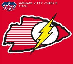 Kansas City Chiefs/Flash Sports Mix, Go Pats, Nfl Logo, Football Art, Retro Toys, Kansas City Chiefs, Superhero Logos, Pop Culture, Sports Logos