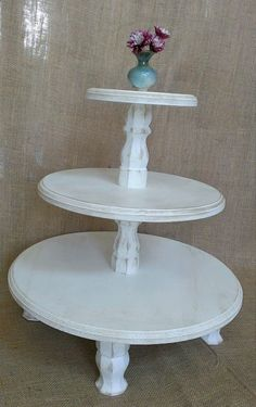 Shabby Chic Cupcake Stand Tier Classic Cup by ThreeTwigsDesigns