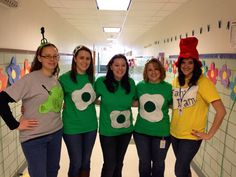 Dr. Seuss Week at school. The first grade teachers at Welch Elementary School on the Dover Air Force Base dressed up as Sam I Am and Green Eggs and Ham.