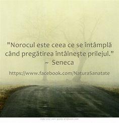 Norocul este ceea ce se întâmplă când pregătirea întâlneşte prilejul. ~ Seneca