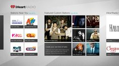iHeartRadio // offers free music in an all-in-one, free digital internet radio service that lets you stream more than 1,500 live radio stations. With iHeartRadio's Windows 8 radio app, you can also create commercial-free Custom Stations featuring songs from the artist you select and similar music.