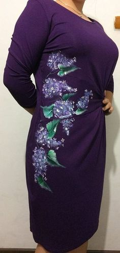 Manually painted dress