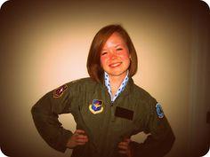 A young pretty Flight Suit Princess...