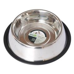 Iconic Pet Stainless Steel Non-Skid Pet Bowl For Dog Or Cat, 32 Oz, 4 Cup, Silver