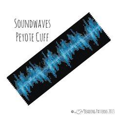Beadweaving Bracelet Pattern Soundwaves von LHbeadingpatterns
