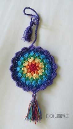 Beautiful Crochet Ideas And Knitting Pattern Crochet Home, Love Crochet, Crochet Motif, Beautiful Crochet, Diy Crochet, Crochet Doilies, Crochet Flowers, Crochet Stitches, Mandala Crochet