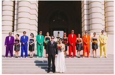 Ready, set, COLOR!   35 Incredibly Creative Ways To Add Color To Your Wedding