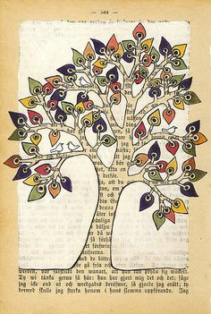 The colorful tree - illustration / Annette Mangseth