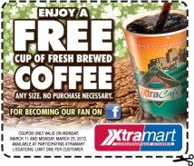 Saving 4 A Sunny Day: Free Coffee At XtraMart on 4/1