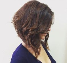 Angled Messy Bob For Thick Hair