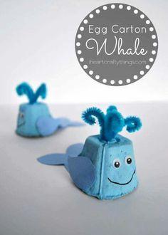 Alıntı Ocean Kids Crafts, Whale Crafts, Crafts For Kids To Make, Toddler Crafts, Art For Kids, Ocean Themed Crafts, Arts And Crafts For Kids For Summer, Kids Diy, Kids Garden Crafts