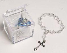 Recuerditos Bautizo Baptism Rosary Favors by DIYPartyCraftSupply