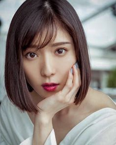 Actress Mayu Matsuoka is photographed for Self Assignment on May 2018 in Cannes France Beautiful Japanese Girl, Japanese Beauty, Korean Beauty, Asian Beauty, Girl Short Hair, Short Hair Cuts, Short Hair Styles, Prity Girl, Elegant Girl
