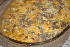 Hamburger Casserole---It is super easy and the hubby  LOVES it which is not an easy feat. He comes home most days for lunch so it make a good lunch for him for a couple of days or a good dish for when I go out of town for a day or two to leave at home for him.