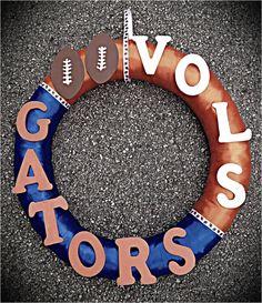 House Divided Wreath. TN Vols vs FL Gators