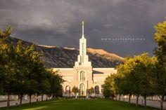 Mt Timpanogos Utah Temple Summer Storm Passes | LDS Temple Pics