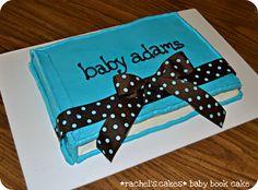 Baby Book Cake - Baby Shower