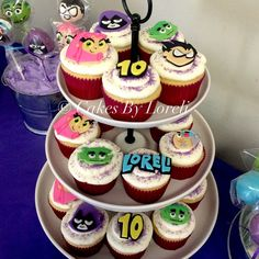 Teen Titans Go! Cupcakes for My Daughter's 10th Birthday!! #cupcakes…