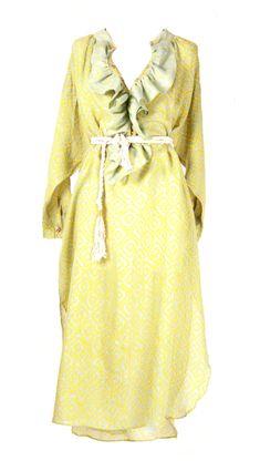 Dress Ruffle Lime Ruffle Dress, Kaftan, Dresser, Raincoat, Lime, Jackets, Fashion, Rain Jacket, Down Jackets