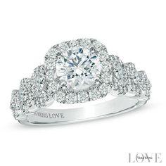 Neil Lane 3 Stone Ring 2 1 3 Ct Tw Diamonds 14k White Gold
