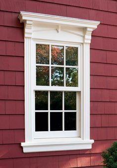 High-Tech Windows for New Old Houses - Fenster Café Exterior, Exterior Design, Modern Exterior, Exterior Paint, House Windows, Windows And Doors, Exterior Window Molding, Exterior Windows, Outdoor Window Trim