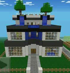 Una casa moderna en mine craft