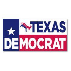 Texas Democrat (vinyl sticker) - Texas Democrats Webstore