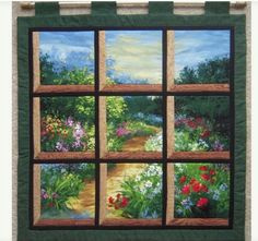 Attic Window quilt nature