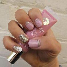 Cute & Girly Nail Design for Short Nails