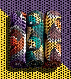 VLISCO WAX FABRIC - POP DOTS | Pop out of the crowd in this sensational homage to pop art. Our designer has taken inspiration from old comic books to create this vivid and surprising design. Now it's your turn to play.