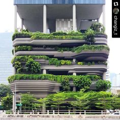 archidaily_Parkroyal Hotel by WOHA Architects in Singapore . for credit or rem. Biophilic Architecture, Green Architecture, Futuristic Architecture, Sustainable Architecture, Amazing Architecture, Landscape Architecture, Landscape Design, Architecture Design, Hotel Architecture