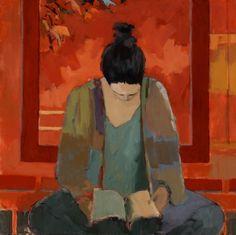 Liz Gribin (1934-...) Michelle   Michelle is een jonge vrouw die eenmaal per week bij Liz Gribin, de maker van het schilderij, thuis komt in...