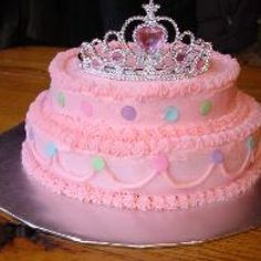 Birthday Princess Cake that looks pretty easy to make. I'm not sure about making the cake ALL pink, though.